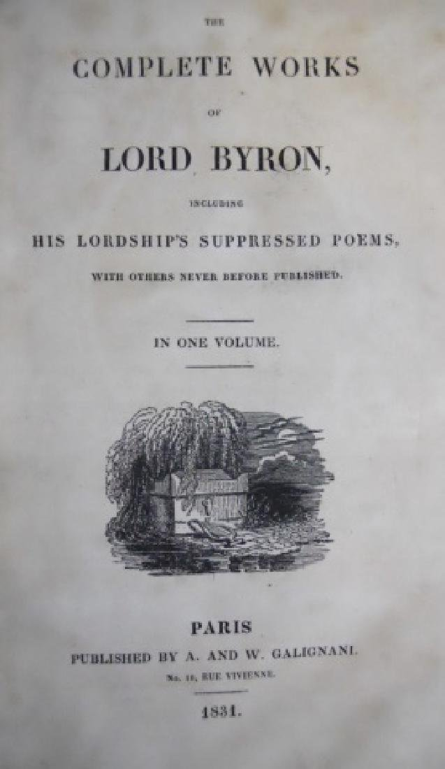 The Complete Works of Lord Byron, 1831, (3pc) - 3