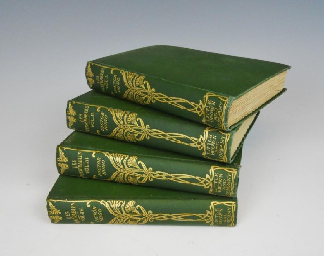 Four Vol, Les Miserables, Victor Hugo, Brown, 1887
