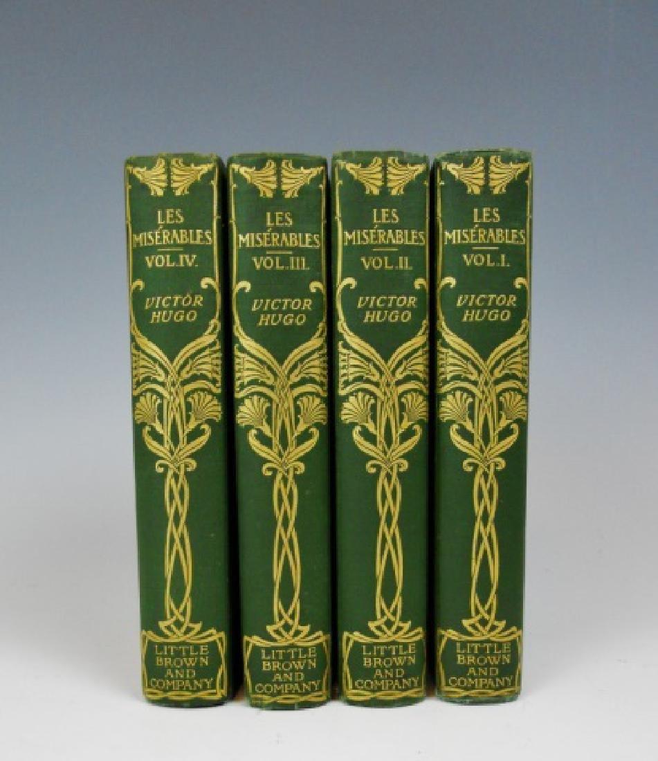 Four Vol, Les Miserables, Victor Hugo, Brown, 1887 - 2