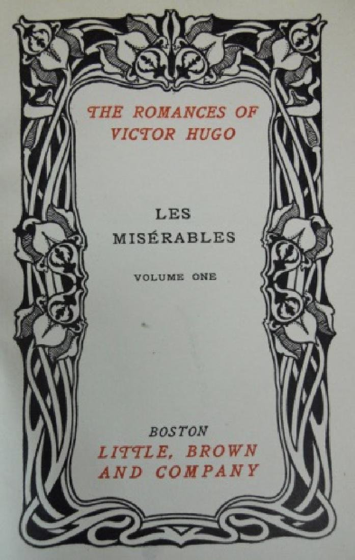 Four Vol, Les Miserables, Victor Hugo, Brown, 1887 - 3