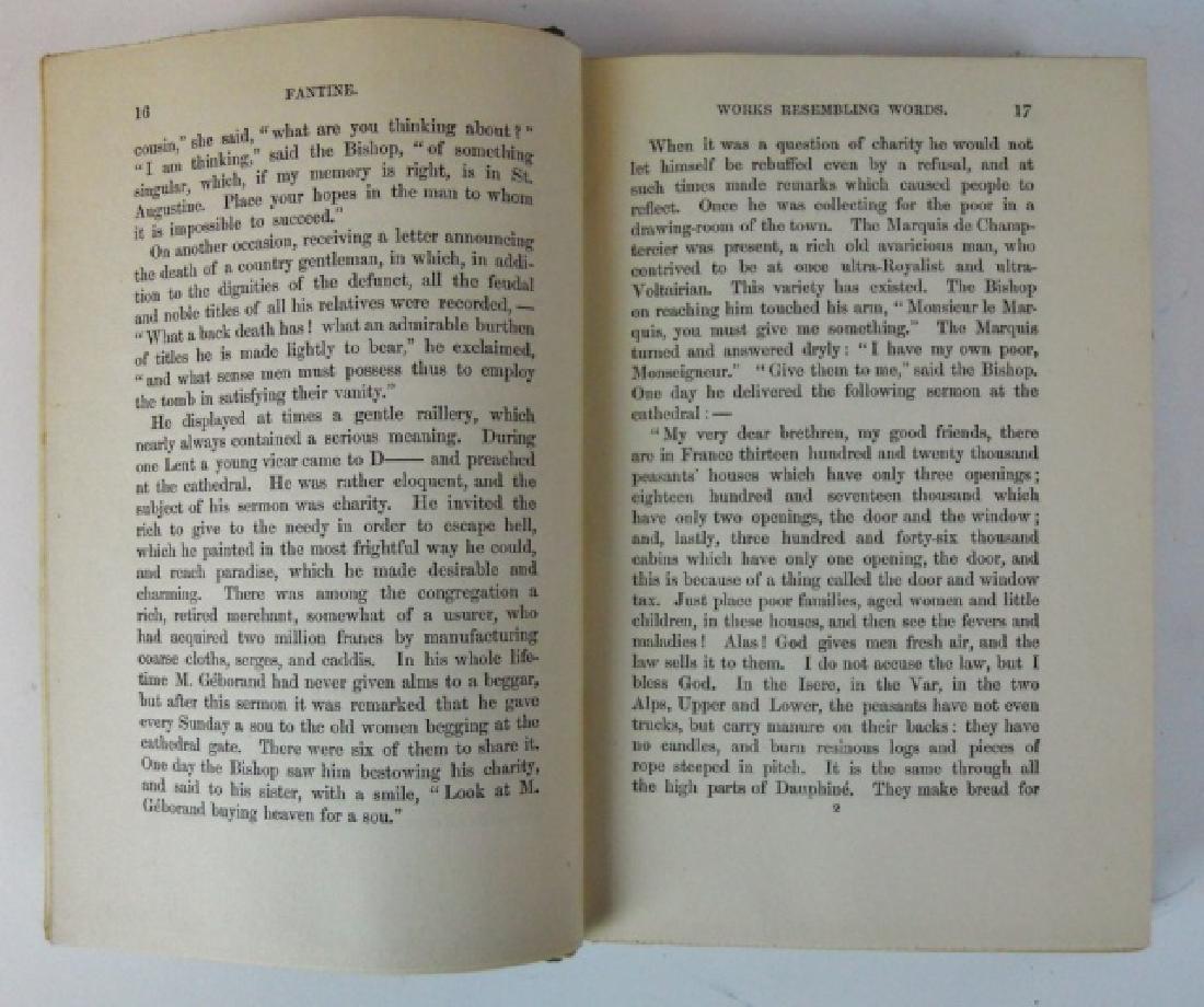 Four Vol, Les Miserables, Victor Hugo, Brown, 1887 - 4