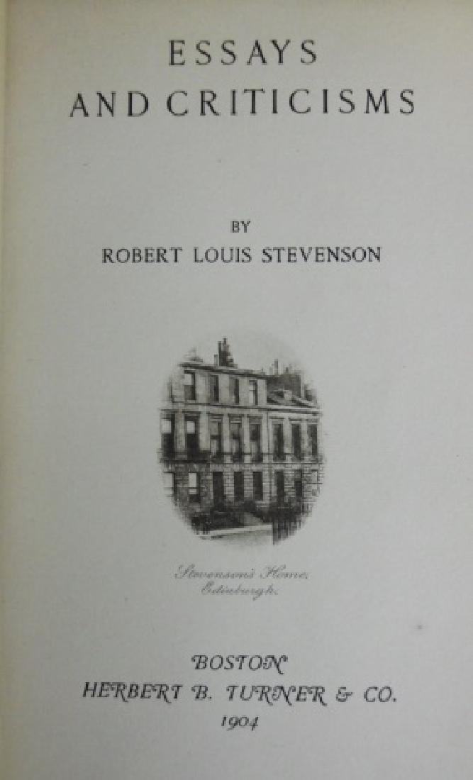 Six Vol. Robert Lewis Stevenson, 1902, Turner - 4
