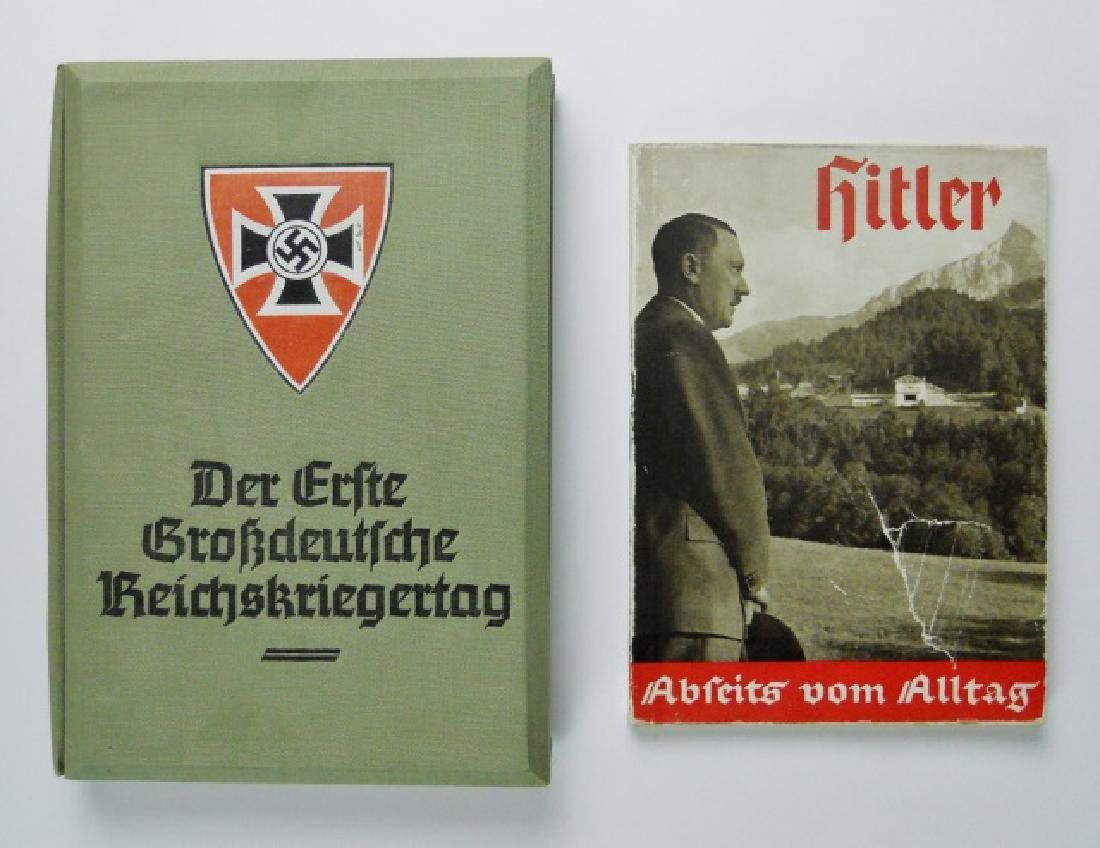 WW2 German War Stereoview and NDSAP Book (2pc)