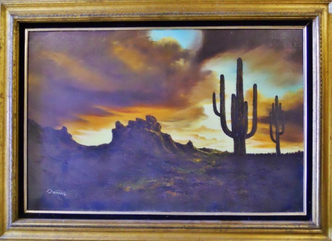 Painting O/C Southwest Desert Landscape