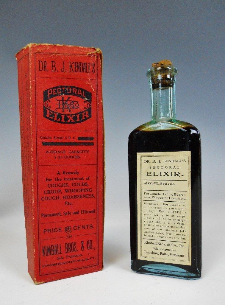 19th C. Medicine Bottles Labels, Contents, (13pc) - 4