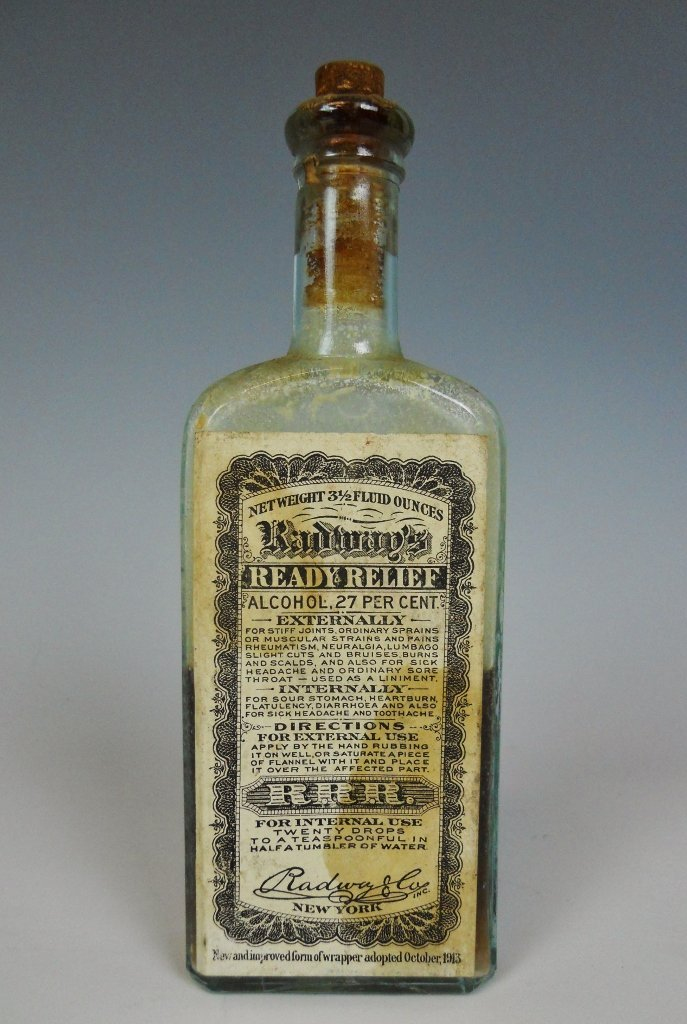 19th C. Medicine Bottles Labels, Contents, (13pc) - 5