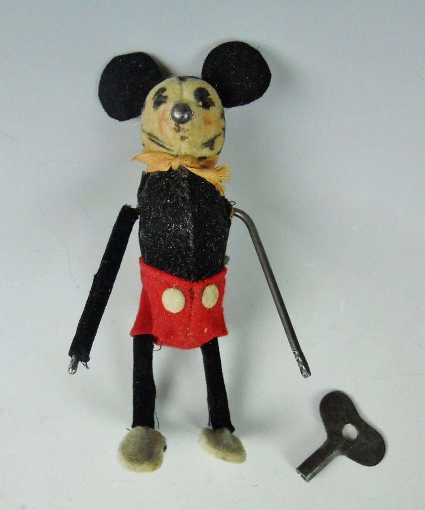 1930's Mickey Mouse Mechanical Toy, SHUCO