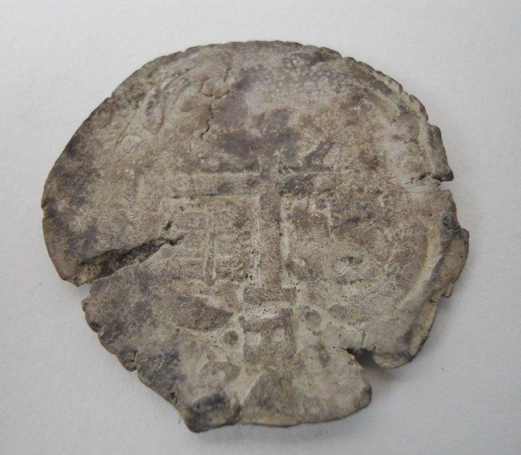 8 Reales Silver Coin, (1652-1678), Isla de Muerto