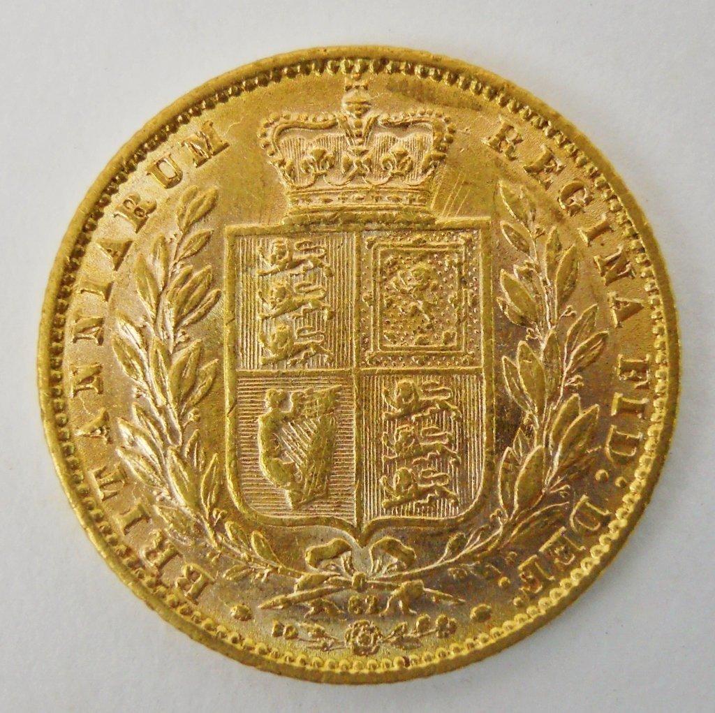 1870 British Gold Sovereign Coin, AU - 2
