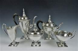 Five Piece Sterling Silver Tea Set, Gorham (5pc)
