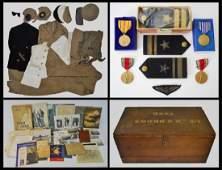WW2 Collection USN Pilot Chest, Uniforms Ephemera