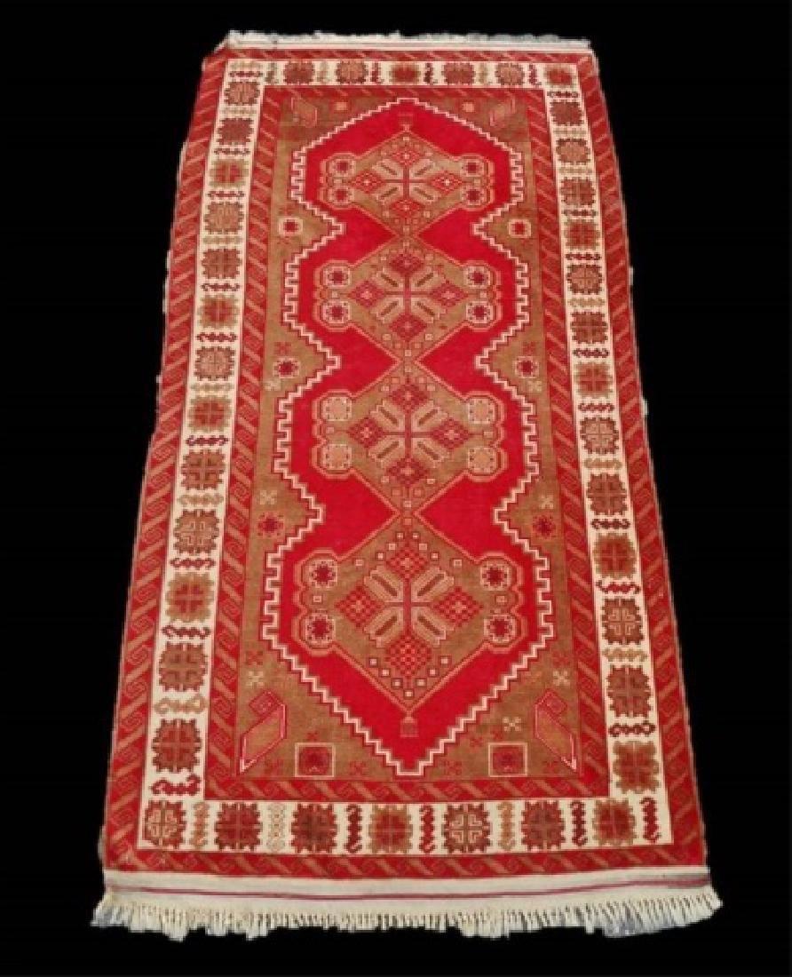 Vintage Hand Made Wool Oriental Rug