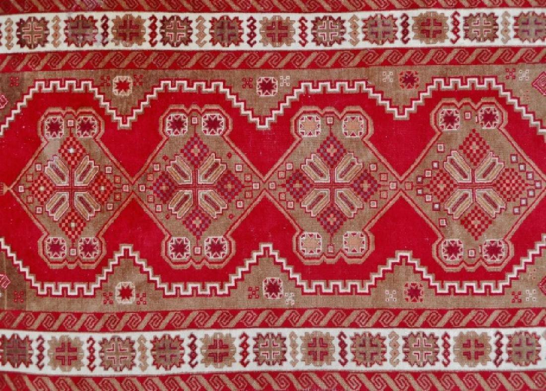 Vintage Hand Made Wool Oriental Rug - 2