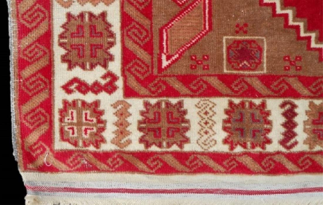 Vintage Hand Made Wool Oriental Rug - 3