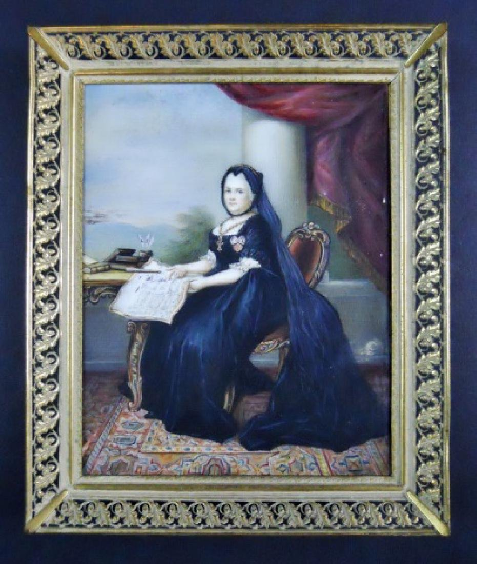19th C. Watercolor on Celluloid, Queen Victoria - 2
