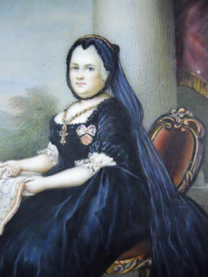 19th C. Watercolor on Celluloid, Queen Victoria - 3