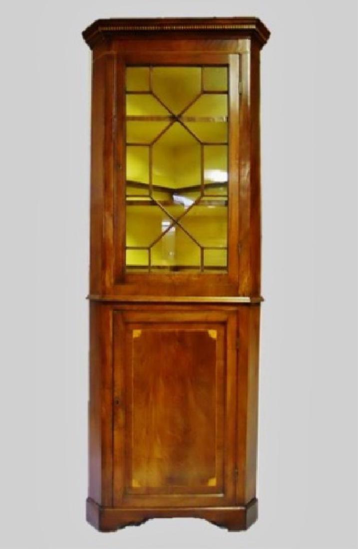 Period Federal Mahogany Corner Cabinet