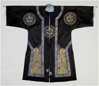 Qing Dynasty Silk Imperial Mandarin Dragon Robe