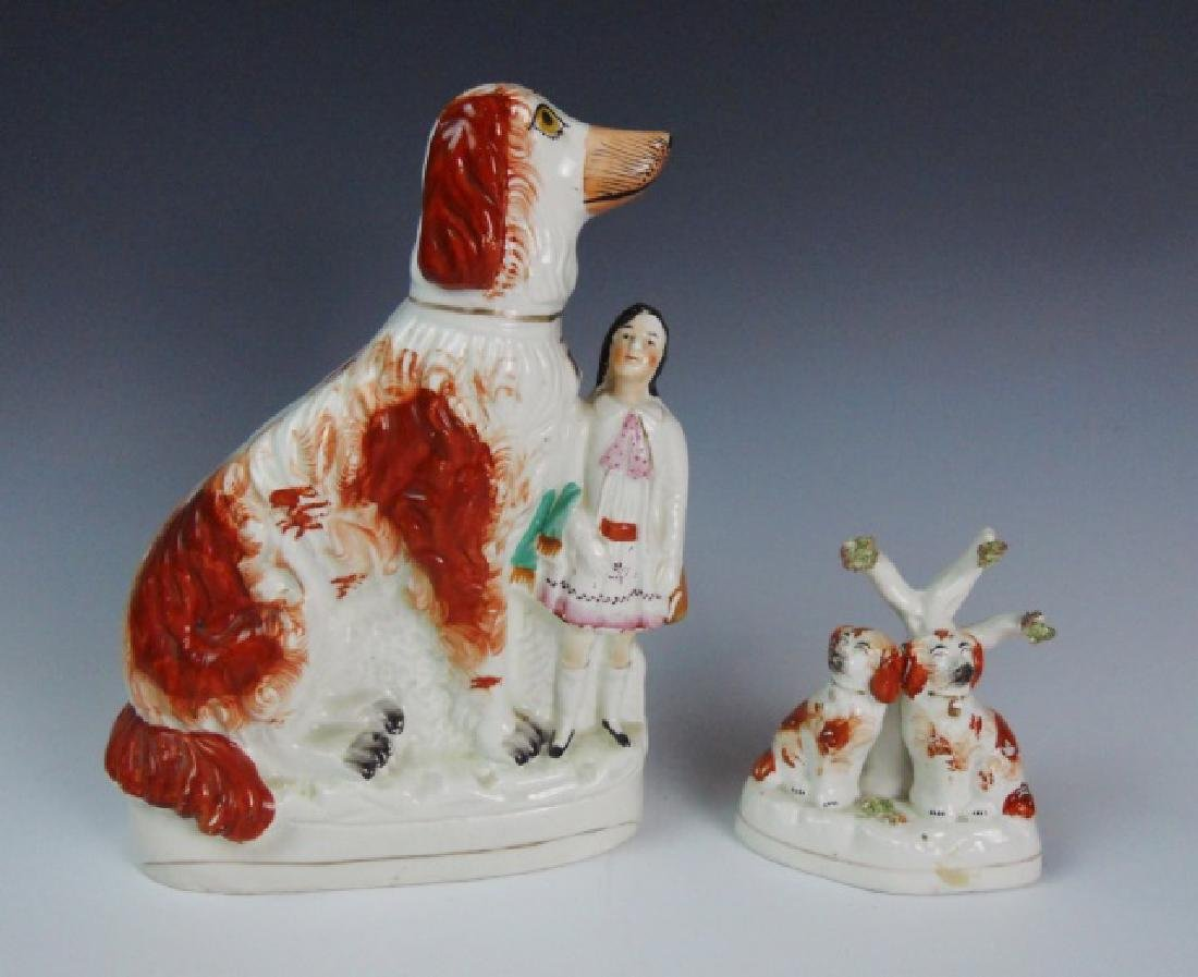 Antique Staffordshire Pottery Figurines (2pc)