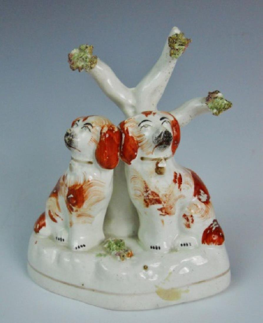 Antique Staffordshire Pottery Figurines (2pc) - 4