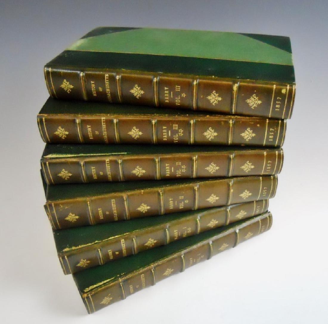 1857 History of Massachusetts, John Barry (6pc)