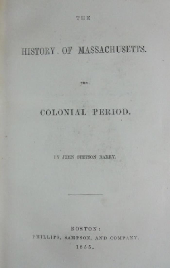 1857 History of Massachusetts, John Barry (6pc) - 2