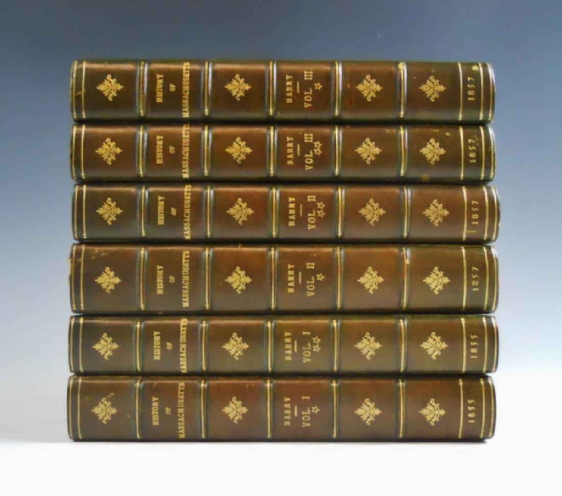 1857 History of Massachusetts, John Barry (6pc) - 6