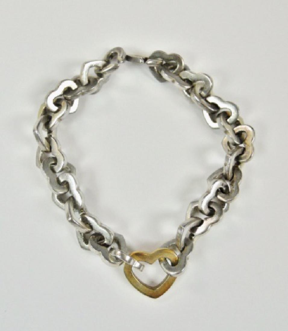 Sterling Silver, 14K Gold Bracelet, TIFFANY & Co