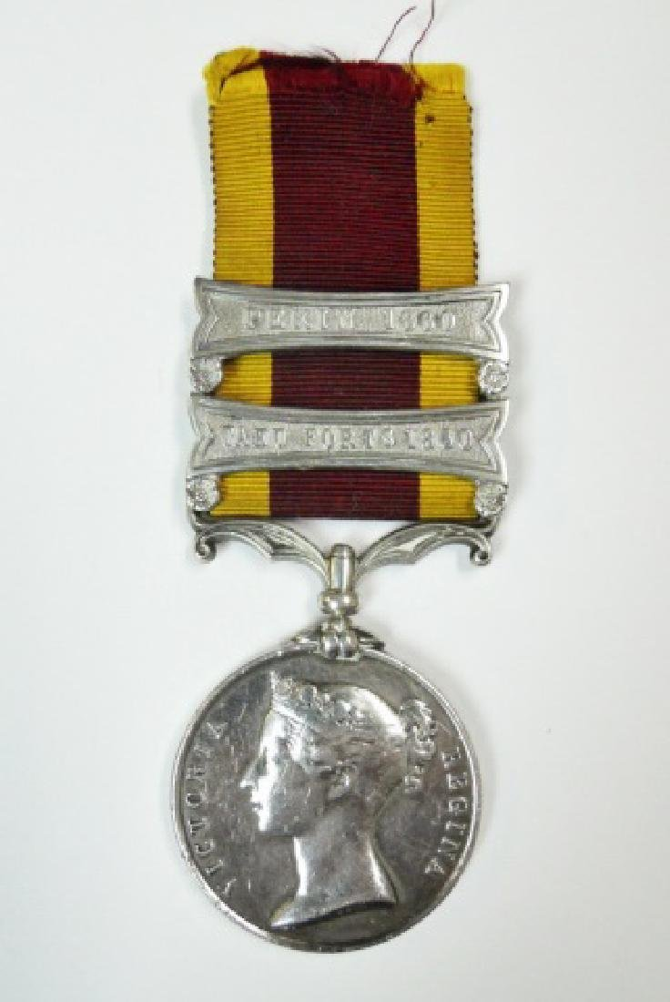 British China Opium War Medal, Named