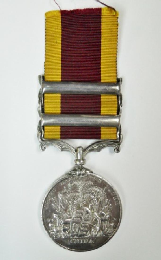 British China Opium War Medal, Named - 2