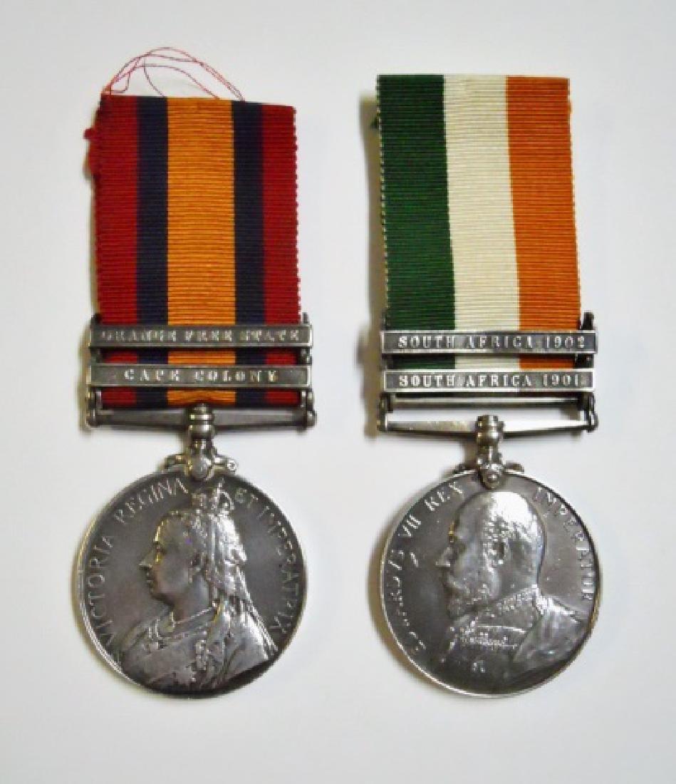 British Boer War King, Queen's Medals, Named (2pc)