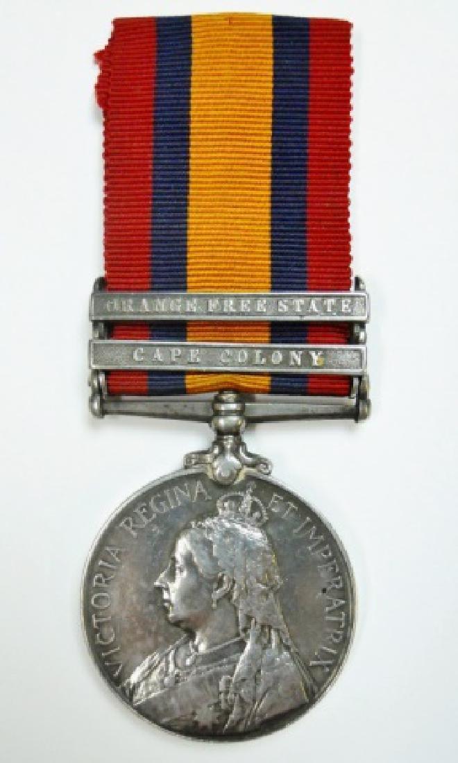 British Boer War King, Queen's Medals, Named (2pc) - 2