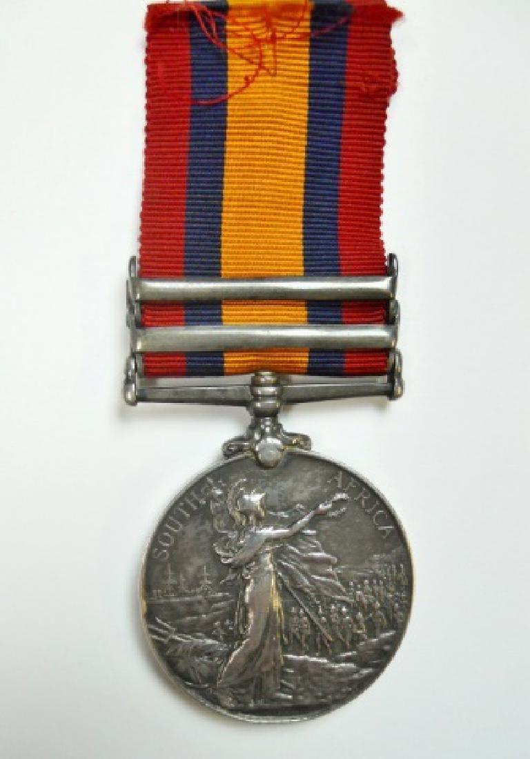 British Boer War King, Queen's Medals, Named (2pc) - 3