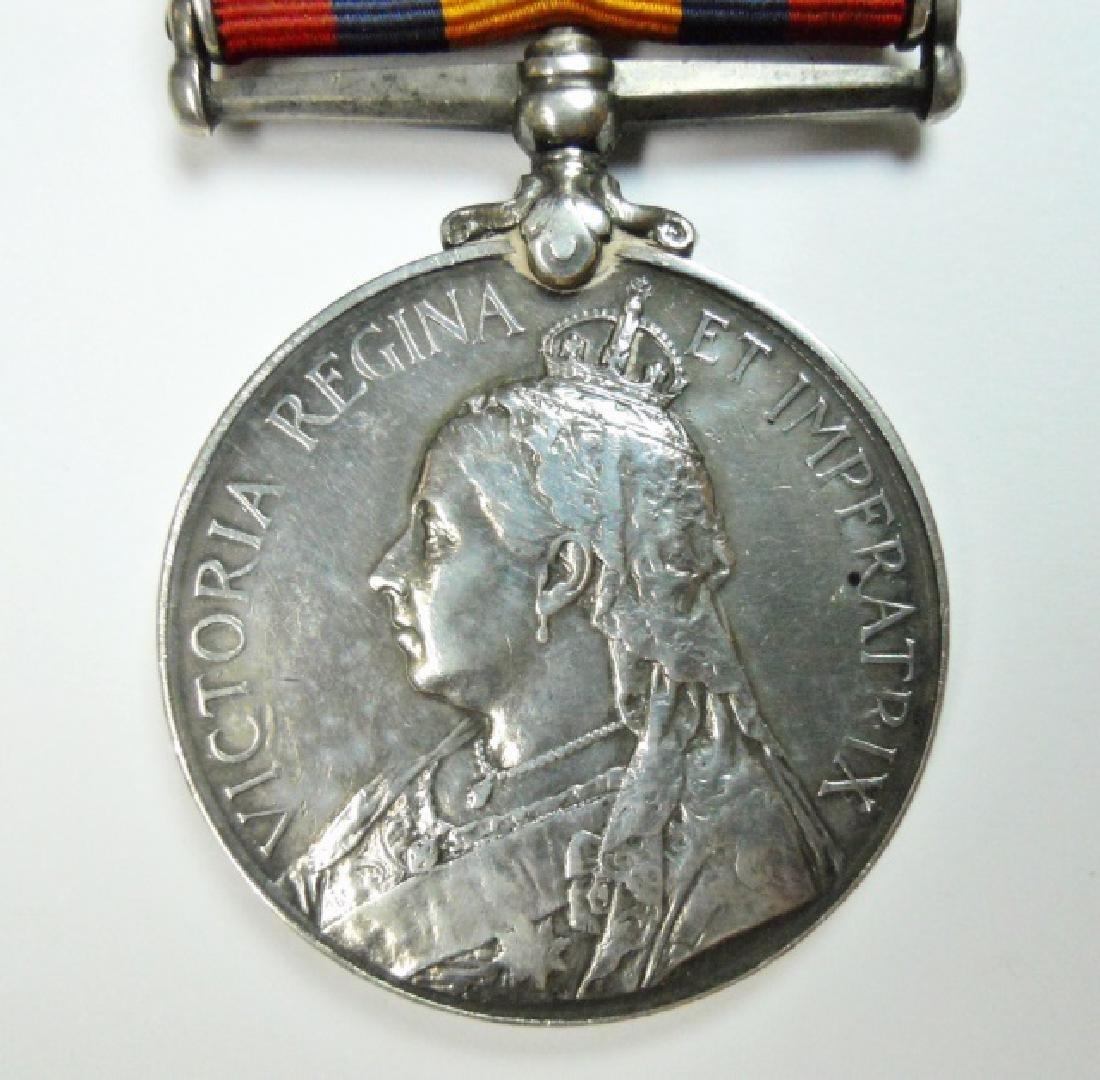 British Boer War King, Queen's Medals, Named (2pc) - 4