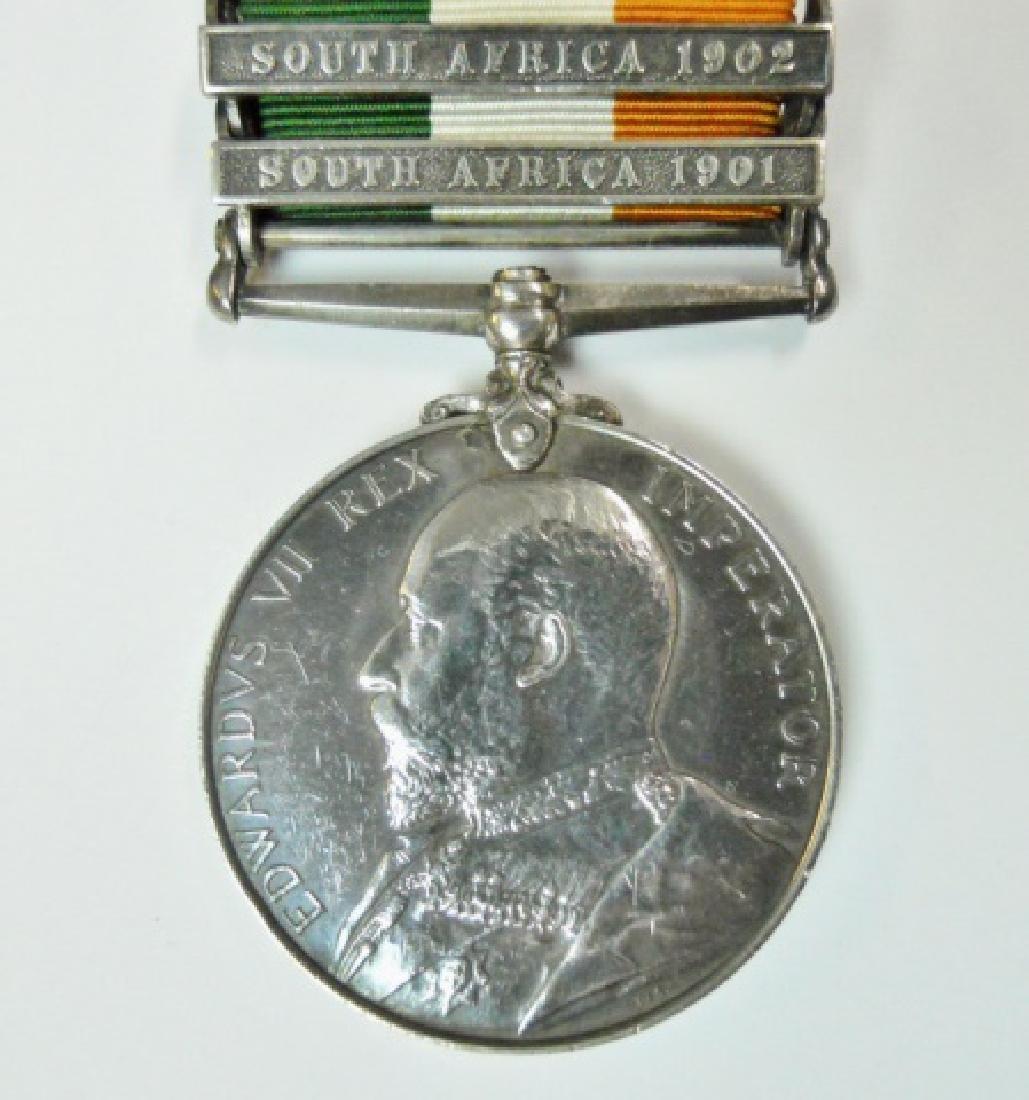 British Boer War King, Queen's Medals, Named (2pc) - 8