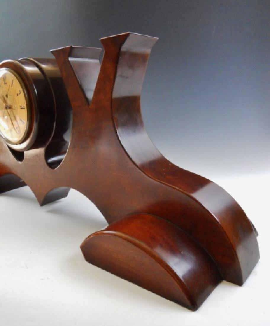 WW2 Victory Clock Hand Crafted in Mahogany - 2