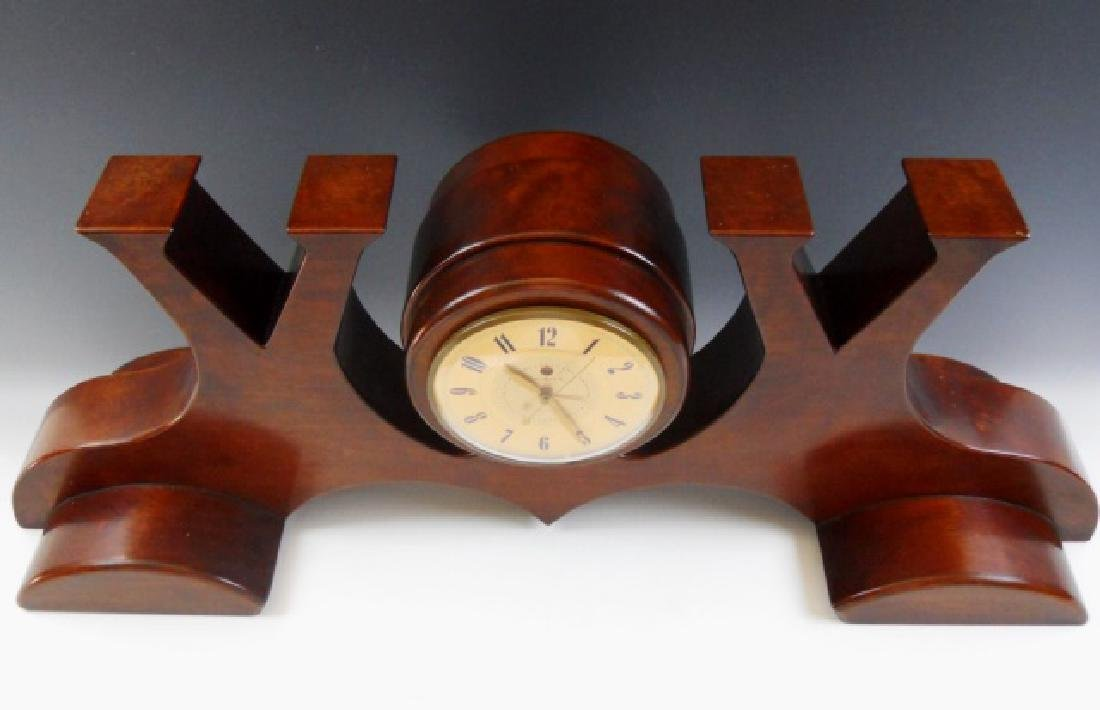 WW2 Victory Clock Hand Crafted in Mahogany - 4