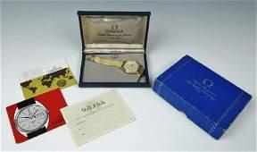 1960s Swiss 14K Gold Bumper Watch Omega
