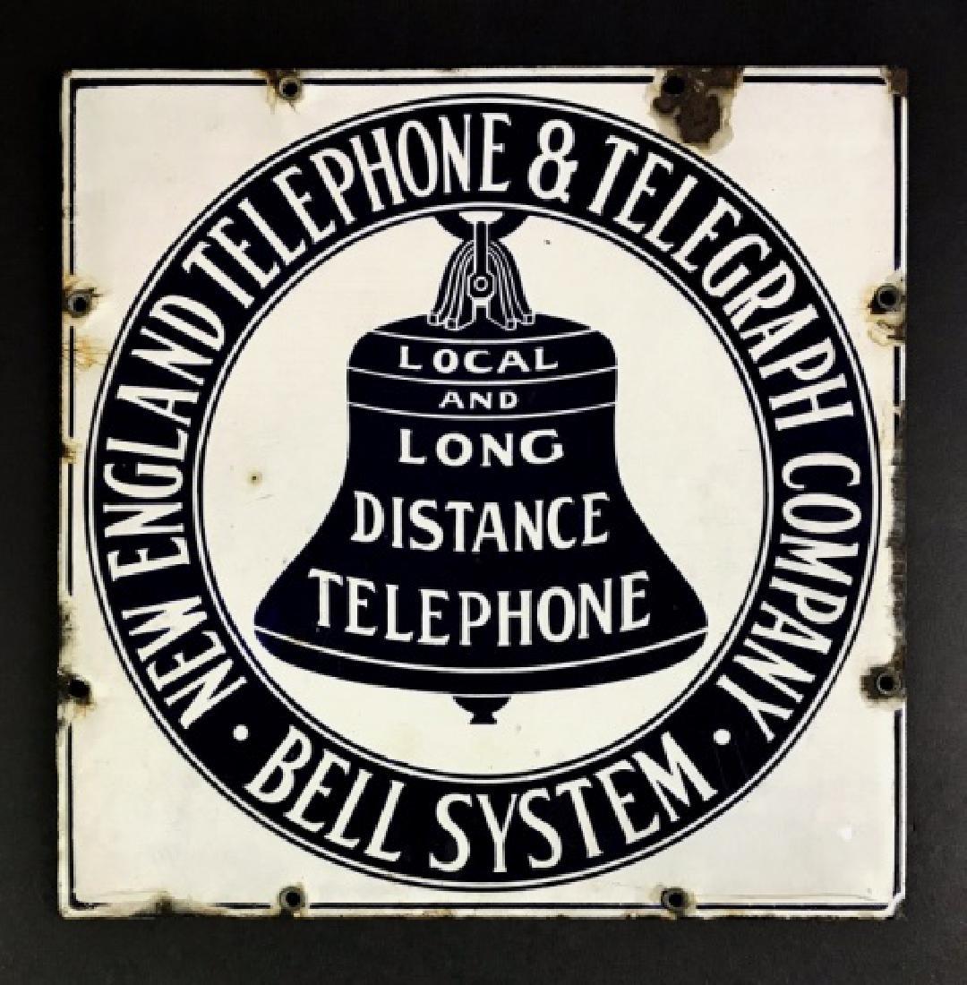 Antique Porcelain Sign, New England Telephone