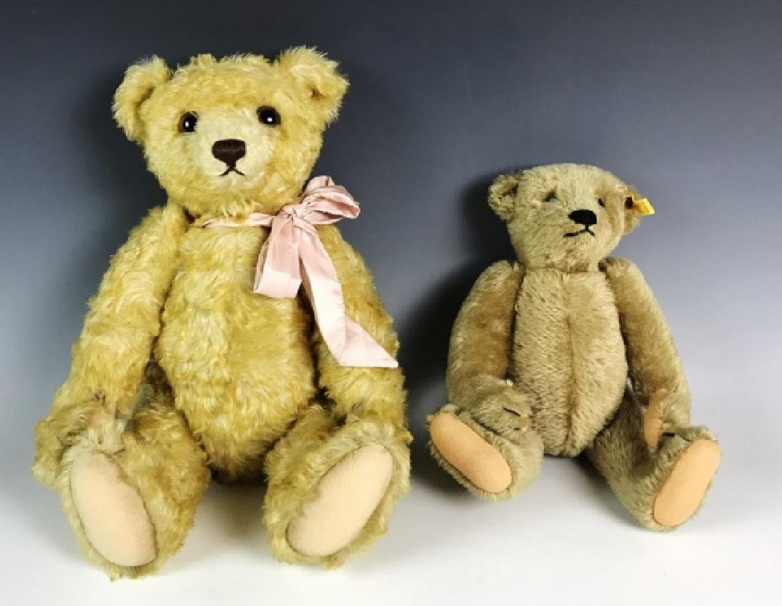 Two Vintage Mohair Teddy Bears, Steiff, (2pc)