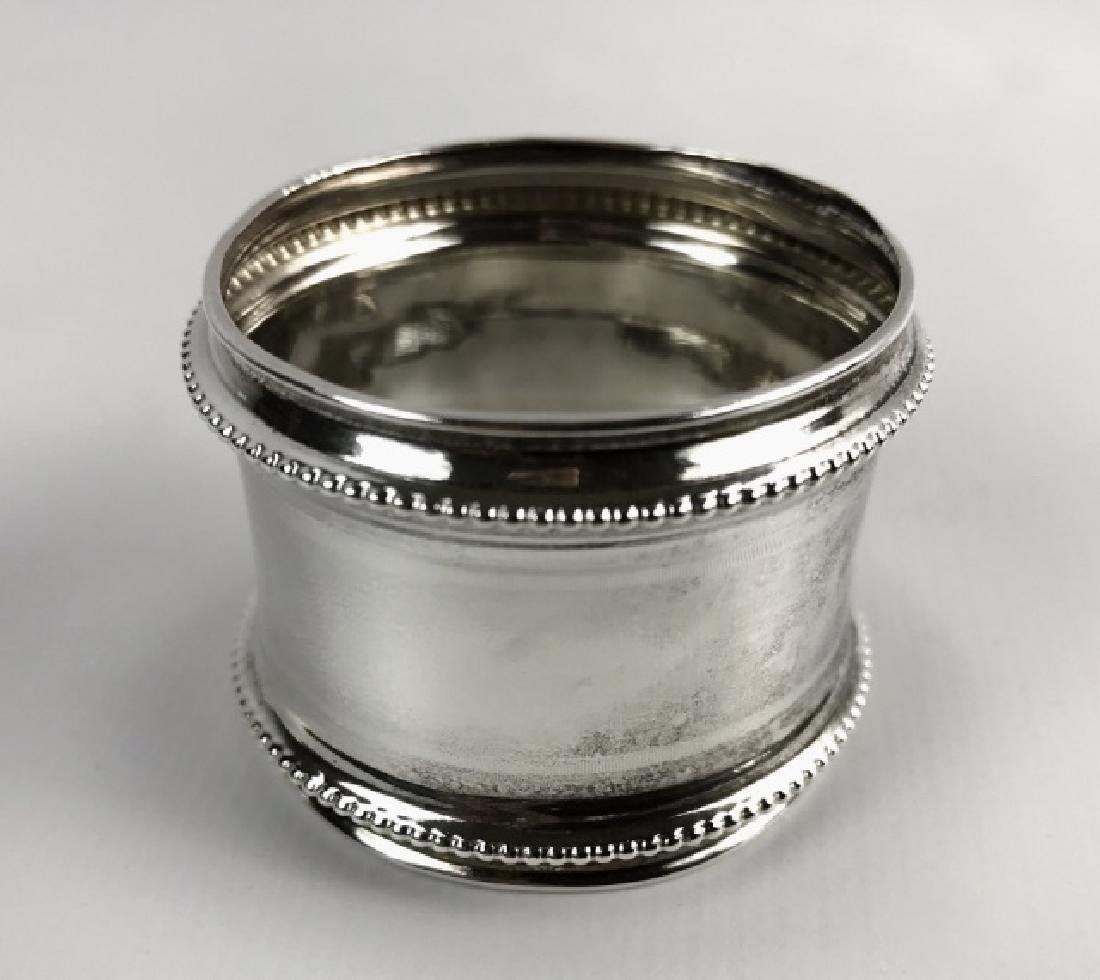 Antique Sterling Silver Napkin Rings, (12pc) - 2