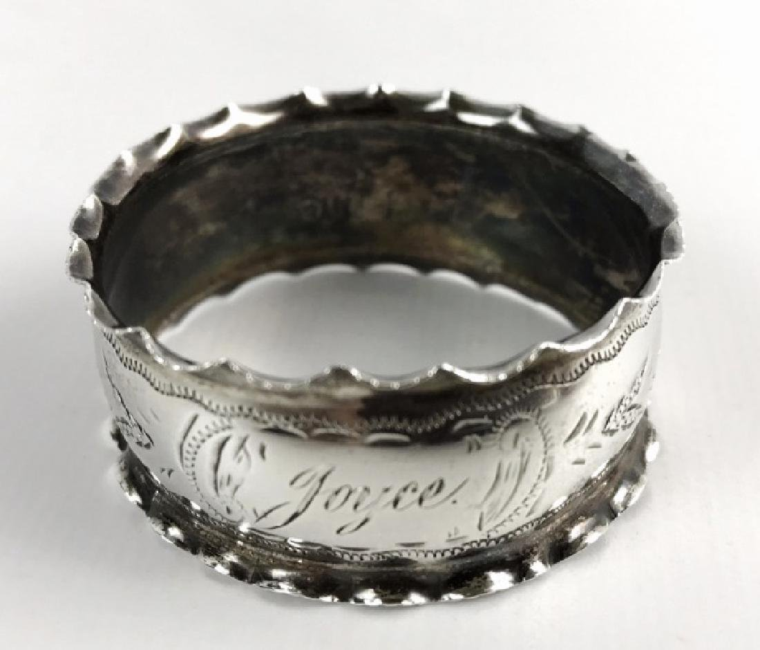 Antique Sterling Silver Napkin Rings, (12pc) - 5