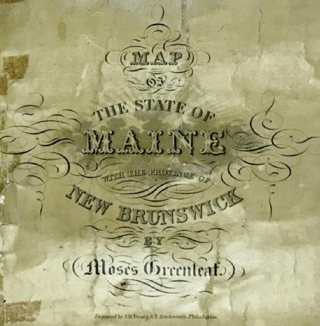 Wall Map of Maine, Moses Greenleaf, 1844