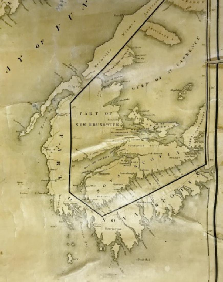 Wall Map of Maine, Moses Greenleaf, 1844 - 6