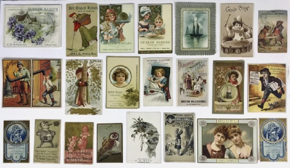 Trade Cards, Catalogs, Advertising Stoves, (155pc)