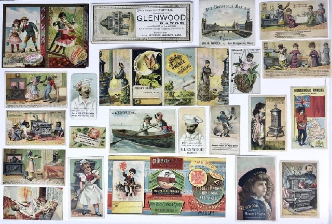 Trade Cards, Catalogs, Advertising Stoves, (155pc) - 2