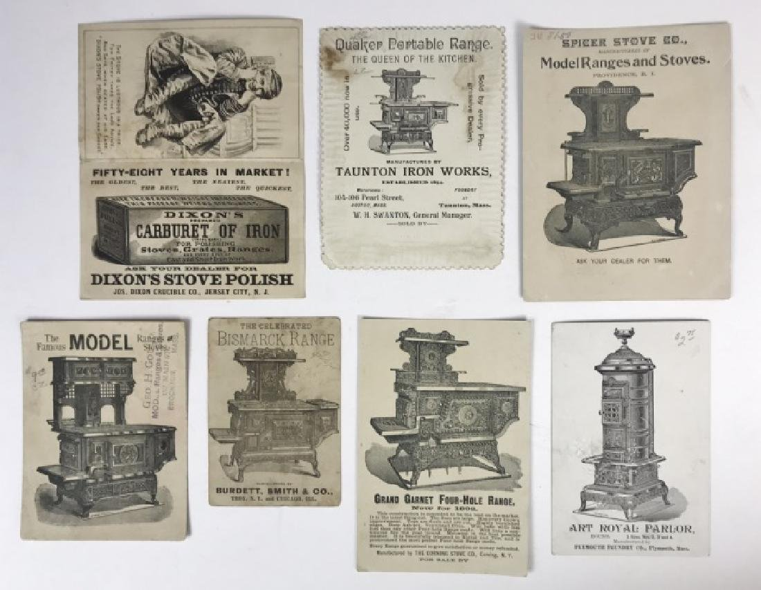 Trade Cards, Catalogs, Advertising Stoves, (155pc) - 4