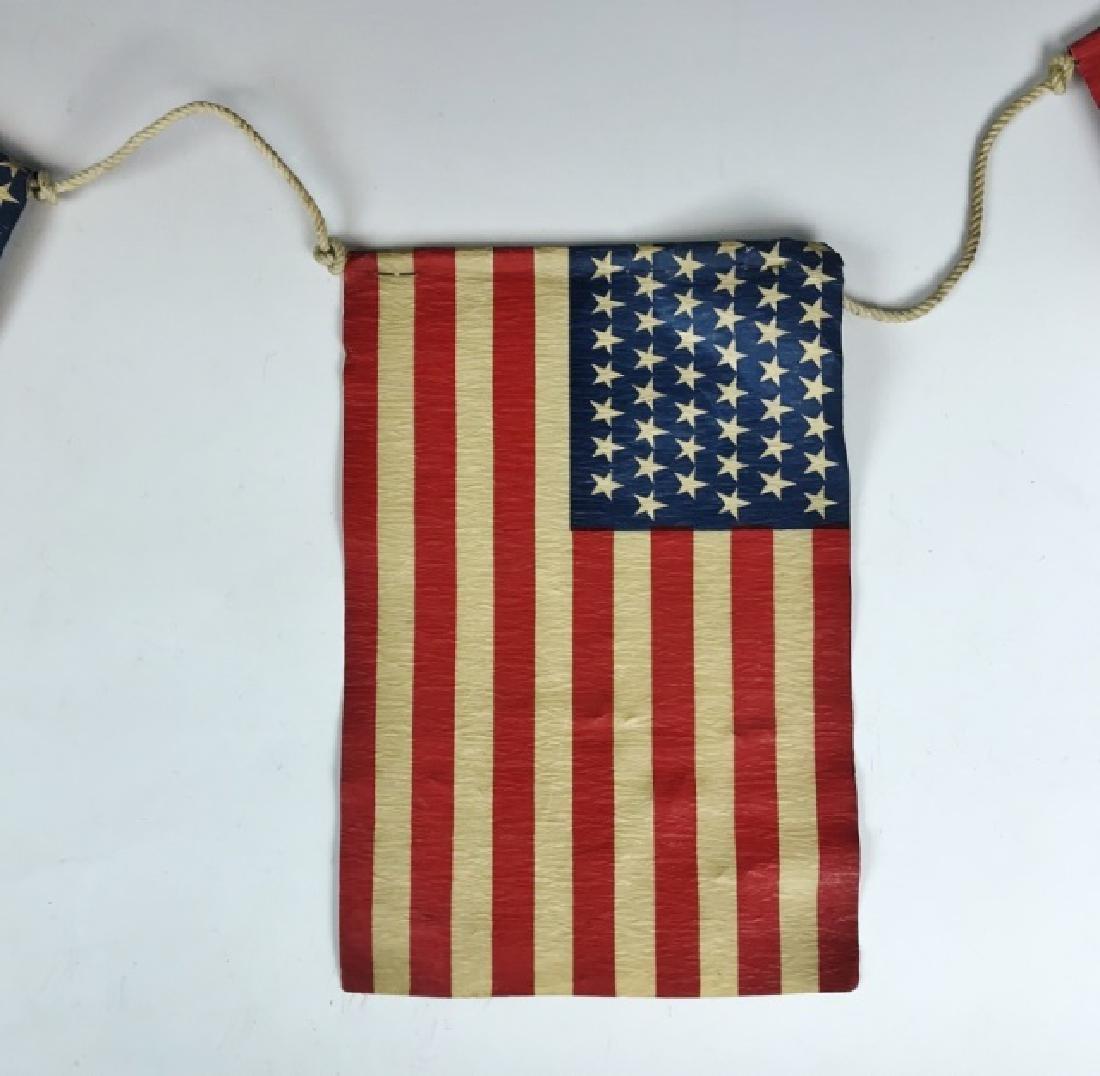 Five Strung Antique 45 Star Parade Flags, (5pc) - 2