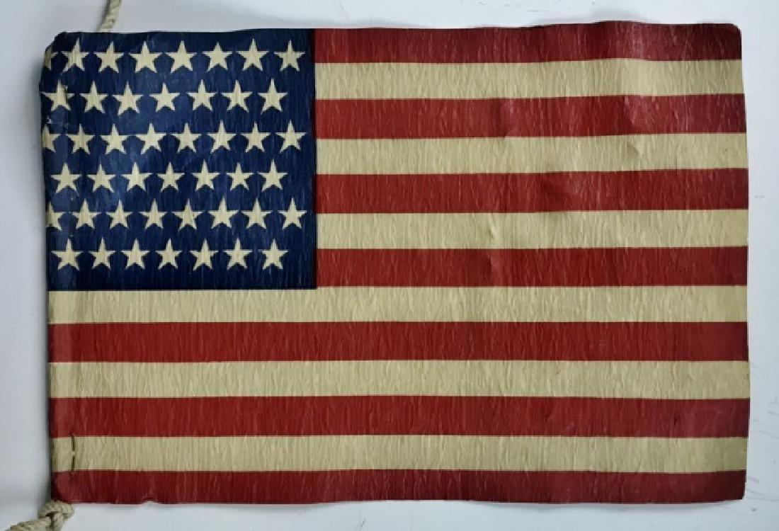 Five Strung Antique 45 Star Parade Flags, (5pc) - 3