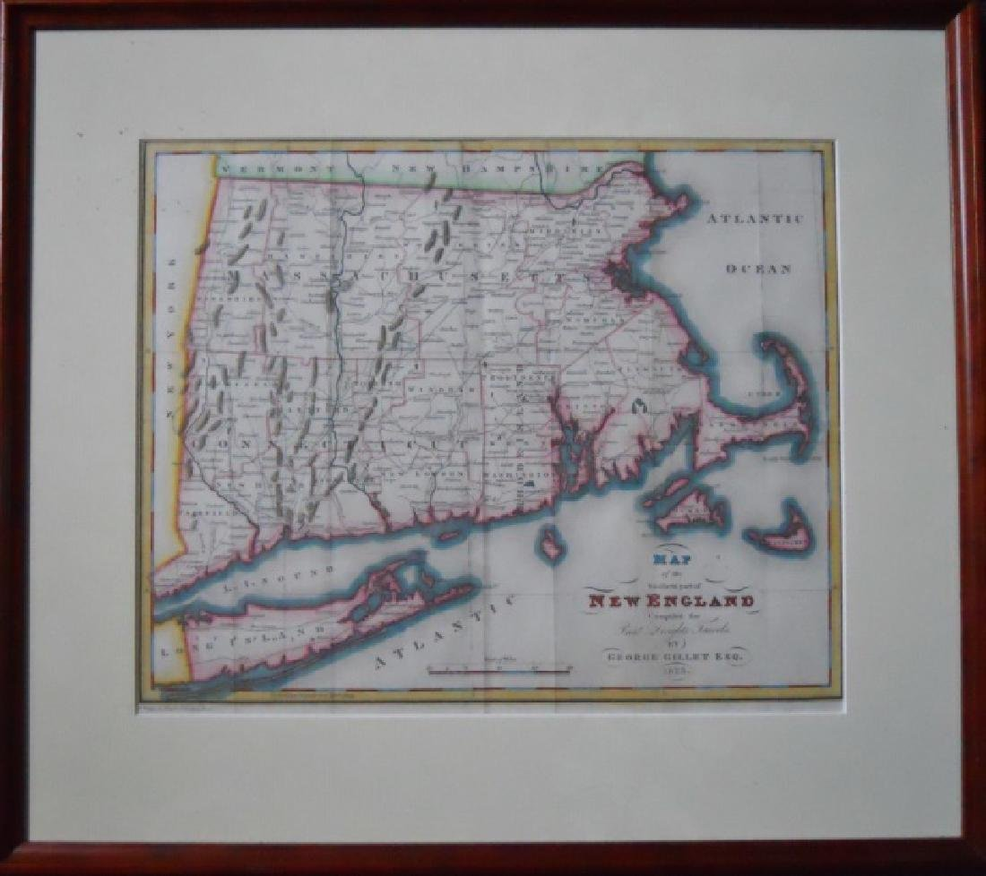 1823 Map of Southern New England, George Gillet - 2